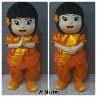 มาสคอตเด็กหญิงชุดไทย