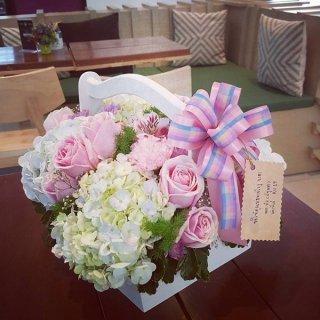 กระเช้าดอกไม้ ราคาถูก