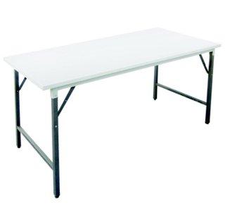 โต๊ะพับหน้าเหล็กสีอบขาว