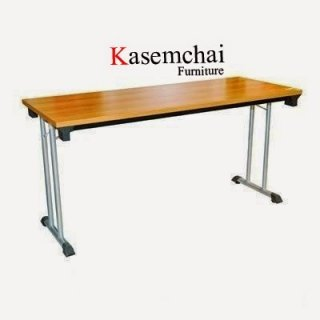 โต๊ะพับขาคู่หน้าไม้