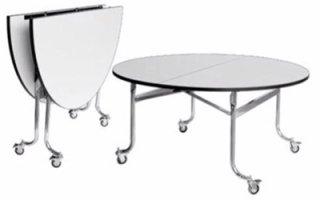 โต๊ะแตงโม หน้าโฟเมก้าขาว