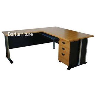 โต๊ะทำงานเมลามีน เหลี่ยม ขาเหล็ก