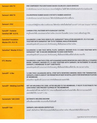 SARNAFIL FASTENER SENAFAST SBF-6.0XL