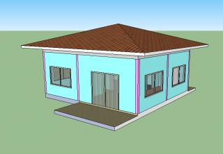 สร้างบ้านชั้นเดียว
