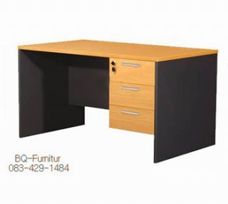 โต๊ะทำงาน 3 ลิ้นชักเมลามีน