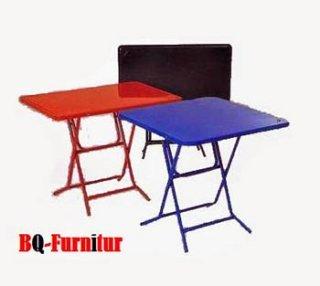 โต๊ะพับหน้าเหล็ก ขาเหล็ก