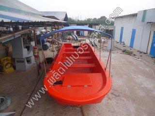 เรือท้องแบนขนาด 5-6 เมตร กวาง 180 ลึก 50-60