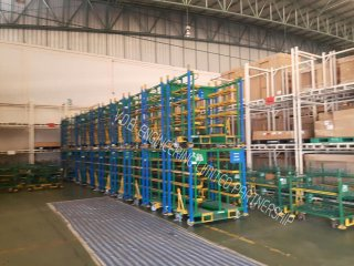 Steel rack roll pallet
