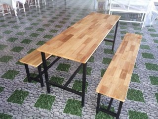 โต๊ะโรงอาหาร ไม้ยางพารา