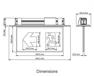 ป้ายไฟทางออกฉุกเฉิน DYNO รุ่น LX-S10-2D