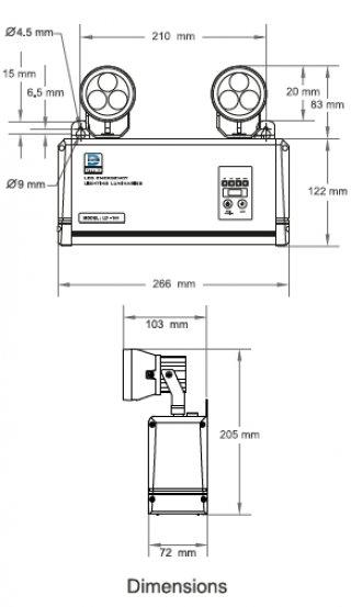 โคมไฟฟ้าฉุกเฉิน LD-100