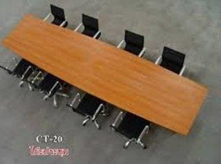 โต๊ะประชุม ทรงเรียวขาไม้
