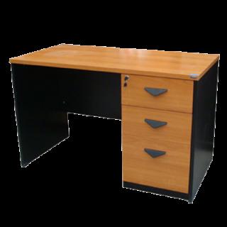 โต๊ะทำงานเมลามีน 3 ลิ้นชัก