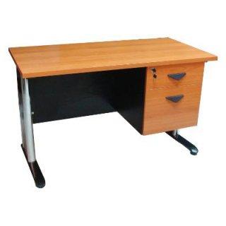 โต๊ะทำงานเมลามีน ขาเหล็กชุปโครเมี่ยม