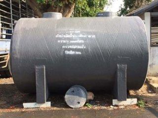 ถังบำบัดน้ำเสียไฟเบอร์กลาส ทรงแคปซูล 10,000 ลิตร