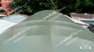 หลังคาผ้าใบคูนิล่อน สีเขียวขี้ม้า ขนาด 5x12 เมตร