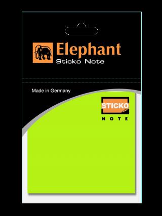 ตราช้ากระดาษโน๊ต Sticko นีออน สีเขียว