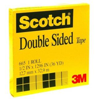 เทปใสกาวสองหน้าแกน 3 นิ้ว Scotch 665 1/2นิ้วx36หลา