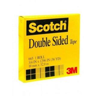 เทปใสกาวสองหน้าแกน 3 นิ้ว Scotch 665 3/4นิ้วx36หลา