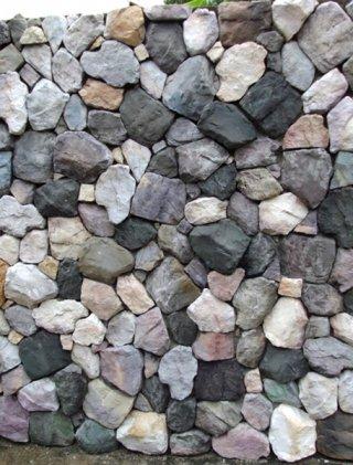 หินเทียมรุ่น Mountain Rubble Stone คละสี