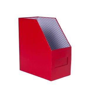 กล่องใส่เอกสาร 1 ช่อง ตรากวาง 7 นิ้ว สีแดง