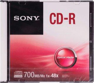 CD R พร้อมตลับ SONY 1X-48X 700MB