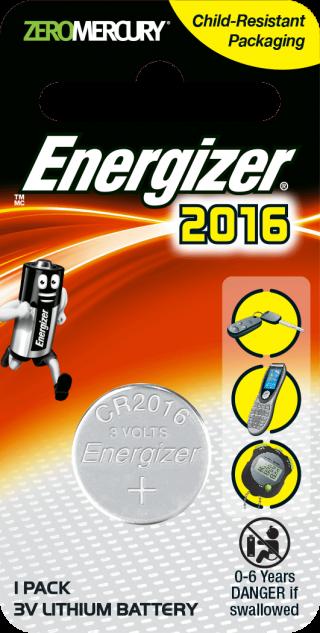 ถ่านกระดุม ถ่านขนาดเล็ก Energizer ECR 2016