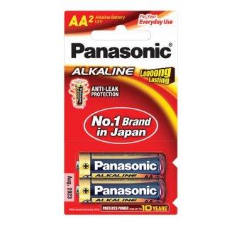 ถ่าน Panasonic Alkaline AA LR6T 2B