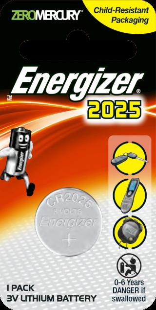 ถ่านกระดุม ถ่านขนาดเล็ก Energizer ECR 2025
