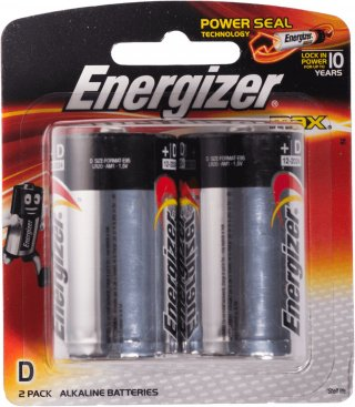 ถ่านไฟฉายอัลคาไลน์ Energizer No E95 BP2