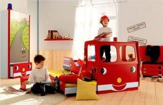 เตียง 2 ชั้น Fire Engine sliding bed