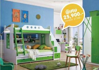 เตียงสองชั้น รุ่น Green and tree bunk bed