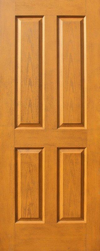 ประตู HDF รุ่น 4H สีสัก