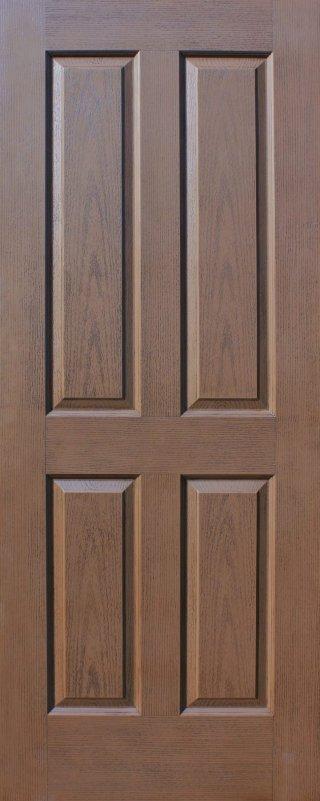 ประตู HDF รุ่น 4H สีโอ๊ค