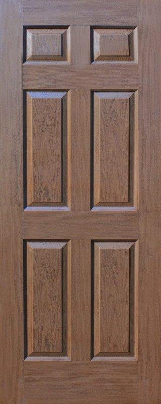 ประตู HDF รุ่น 6H สีโอ๊ค