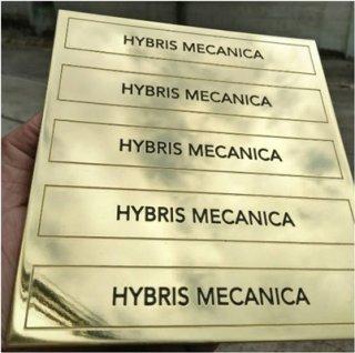 เนมเพลททองเหลืองกัดกรด (Etching Brass)