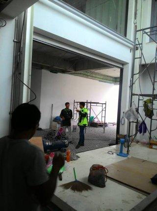 งานสร้างลิฟท์ยกรถไฮดรอลิค 2 ชั้น