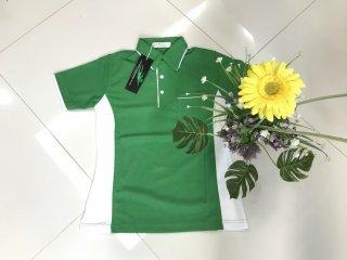 เสื้อโปโลโทนขาว เขียว