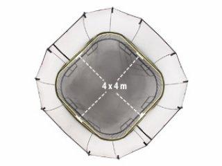 สปริงฟรีแทรมโพลีน S155 แบบสี่เหลี่ยม พร้อมบันได