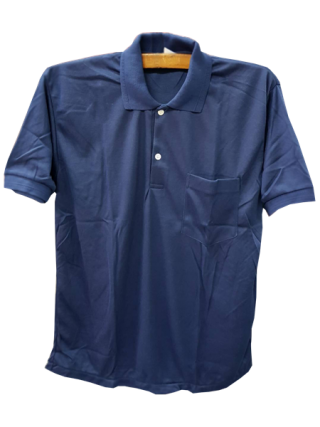 เสื้อยืดคนงานคอปกแขนสั้นมีกระเป๋า