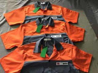 แบบเสื้อช็อป สีเทาคาดส้ม