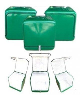 กล่องไฟเบอร์กลาส สีเขียว ความจุ 156 ลิตร
