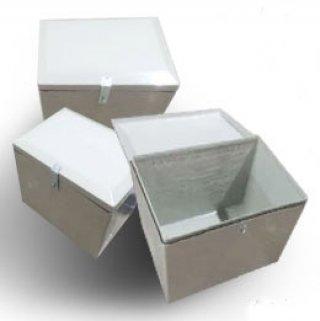 กล่องไฟเบอร์กลาส สีขาว ความจุ 100 ลิตร