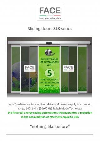 ประตูอัตโนมัติ FACE รุ่น SL3 series