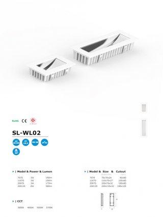 โคมไฟ LED Wall Light รุ่น SL-WL02