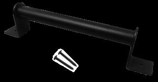 มือจับบานสไลด์เหล็กอบสีดำ รุ่น H-6-1