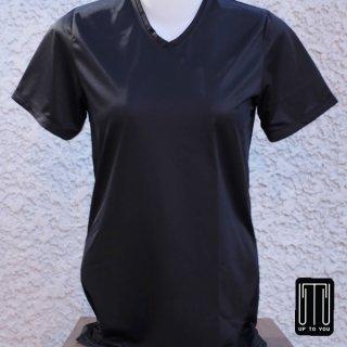 เสื้อกีฬาสุภาพสตรี สีดำล้วน