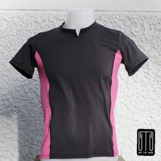 เสื้อกีฬาสุภาพบุรุษ สีดำ-ชมพู