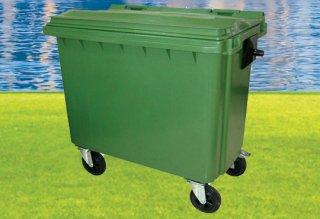 ถังขยะกทม พร้อมล้อเข็น 660 ลิตรไม่มีหูยก