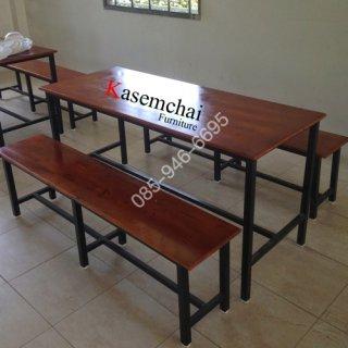 โต๊ะโรงอาหารไม้ยางพารา